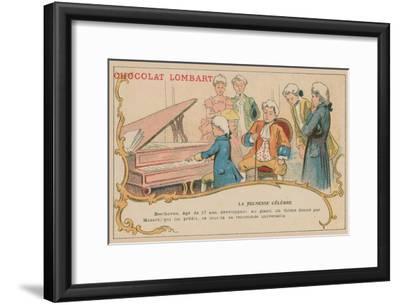 Ludwig Van Beethoven Playing at the Piano at the Age of 17