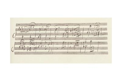 Portion of the Manuscript of Beethoven's Sonata in A, Opus 101