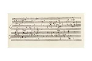 Portion of the Manuscript of Beethoven's Sonata in A, Opus 101 by Ludwig Van Beethoven