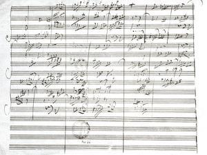 Score for the 3rd Movement of the 5th Symphony by Ludwig Van Beethoven