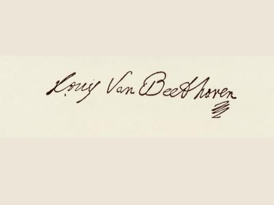 Signature of Ludvig Van Beethoven
