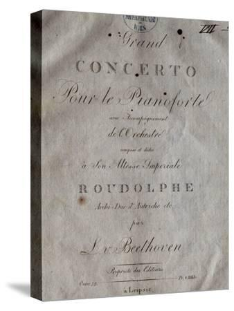 Title Page of Score for Concerto for Piano and Orchestra No 5, Opus 73