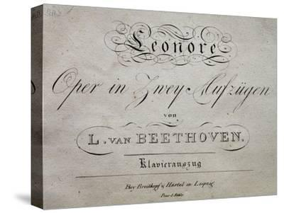 Title Page of Score for Leonore