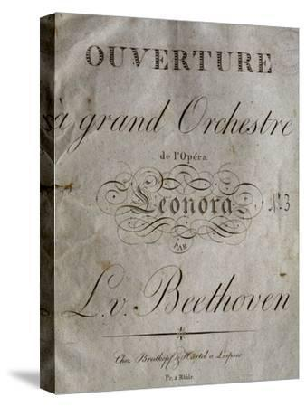 Title Page of Score for Overture to Leonore