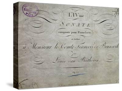 Title Page of Score for Sonata Appassionata