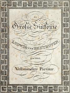 Title Page of Score for Symphony No 8 in F Major, Opus 93, 1812-1813 by Ludwig Van Beethoven