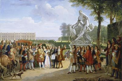 Ludwig XIV, at the Unveiling of the Sculpture Milon of Croton from P. Puget, 1814-Gabriel Lemonnier-Giclee Print