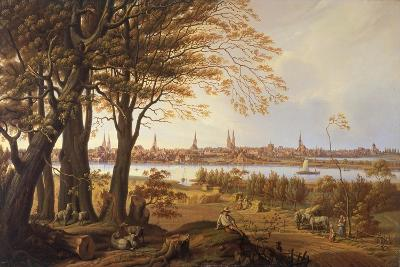 Luebeck as Seen from the East, from the Direction of Marli, C. 1840-Carl Rottmann-Giclee Print