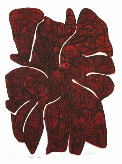 Lueur Rouge-Enrique Peycere-Collectable Print