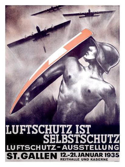Luftschutz ist Selbstschutz-Otto Baumberger-Giclee Print