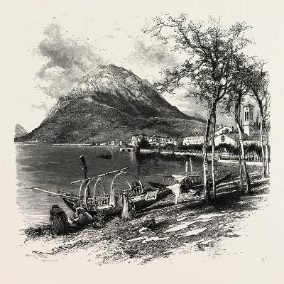 Lugano and Monte Salvatore, the Italian Lakes, Italy, 19th Century--Giclee Print
