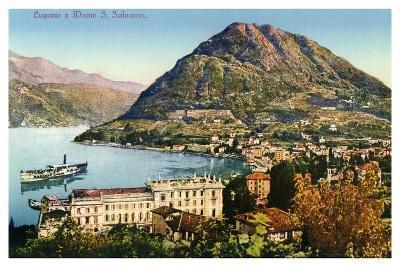 Lugano and Monte San Salvatore, Switzerland, 20th Century--Giclee Print