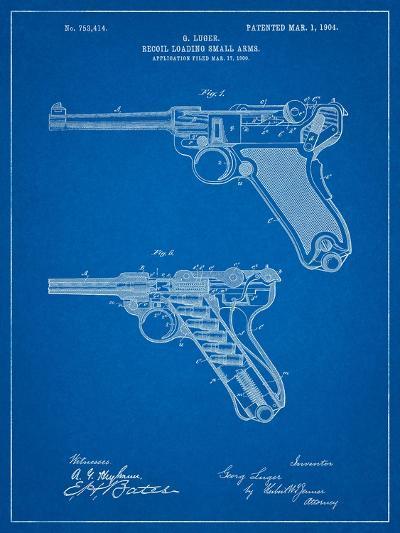 Luger Pistol Patent-Cole Borders-Art Print
