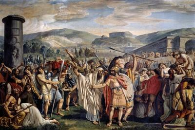 Athenians Abandoning Athens on Word of Themistocles, Athens, 1796-1798