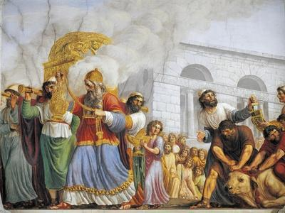 Italy, Florence, Palazzo Pitti, David Accompanies Transportation of Ark of Covenant, 1816