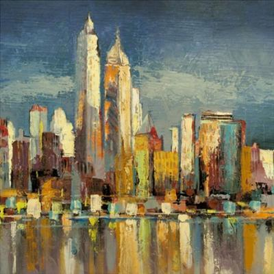 Manhattan Aqua (detail) by Luigi Florio