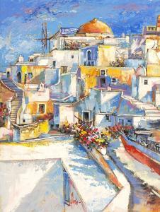 Santorini by Luigi Florio