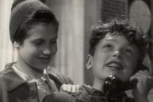 Children on the Phone by Luigi Leoni