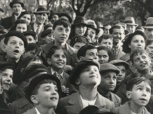 Children Who Attend a Puppet Show by Luigi Leoni