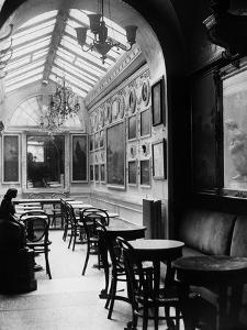 Interior of the Antico Caffè Greco on Via Condotti by Luigi Leoni