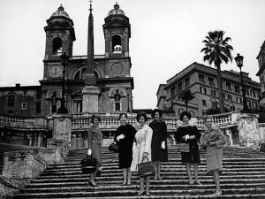 Models on the Steps of Piazza Di Spagna, Rome by Luigi Leoni