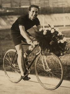Portrait of the Bicycle Rider Ghilardi by Luigi Leoni
