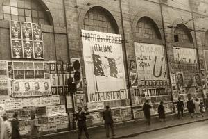 Posters Outside a Building During the Campaign for the Referendum by Luigi Leoni