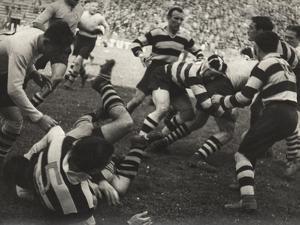 Rugby Match by Luigi Leoni