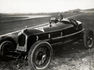 Tazio Nuvolari in His Automobile by Luigi Leoni