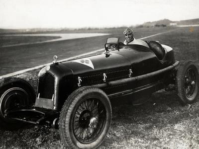 Tazio Nuvolari in His Automobile