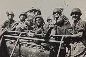 The Brigade Piave Enters Rome by Luigi Leoni