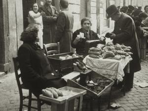 Women Selling Bread on the Road by Luigi Leoni