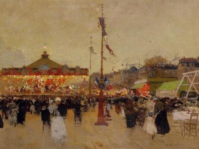 At the Fair by Luigi Loir