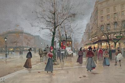 Evening in the Opera Quartier of the Grands Boulevards, Early 20th Century]