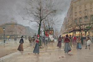 Evening in the Opera Quartier of the Grands Boulevards, Early 20th Century] by Luigi Loir