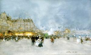 Evening Promenade by Luigi Loir