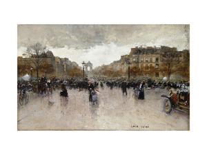 Junction near the Champs Elysee by Luigi Loir
