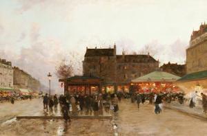 La Fete Forraine a Paris by Luigi Loir