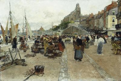 Marketplace by a Harbour