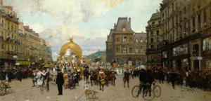 Mi-carême à Paris by Luigi Loir