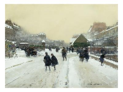 Paris under Snow