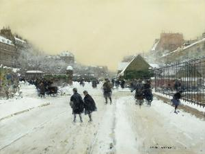 Paris under Snow by Luigi Loir