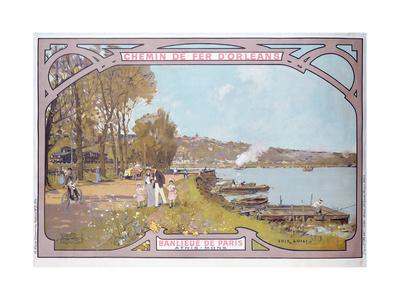 Poster Advertising the Attractions of a Visit to the Parisian Suburb of Athis-Mons with the…