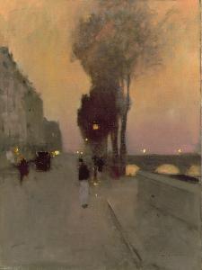 Quai Bourbon, Paris by Luigi Loir