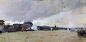 The Flooding of the Seine, c.1903 by Luigi Loir