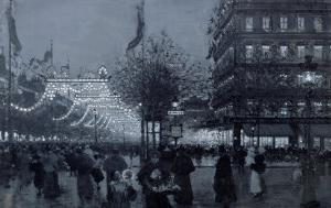 The Grands Boulevards, Paris, Decorated for the Celebration of the Franco-Russian Alliance in 1893 by Luigi Loir