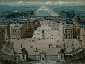 View of Versailles by Luigi Loir