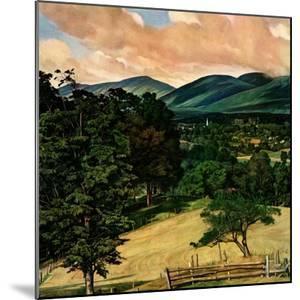 """Country Landscape,""August 1, 1946 by Luigi Lucioni"