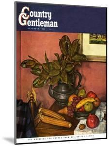 """Fruit Still Life,"" Country Gentleman Cover, November 1, 1950 by Luigi Lucioni"