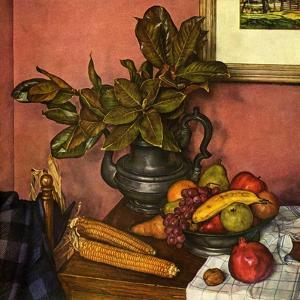 """Fruit Still Life,""November 1, 1950 by Luigi Lucioni"